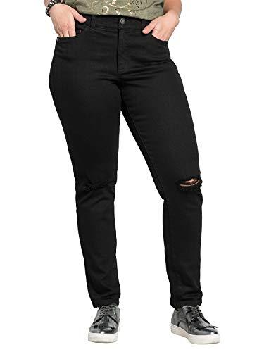 sheego - Jeans Stretch, Colore: Nero Denim Nero 2 Mesi