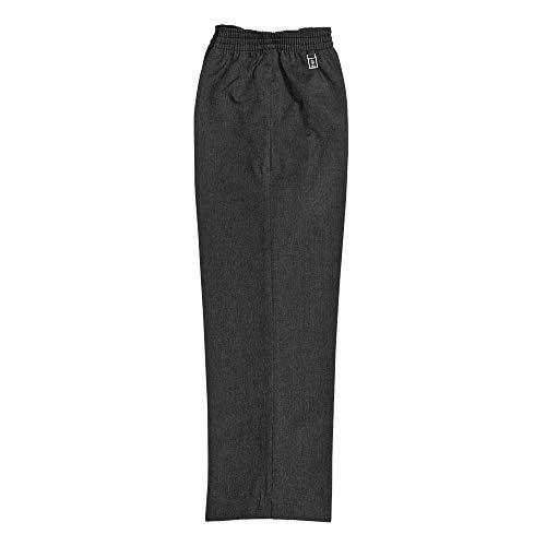 Boys School Uniform Full Elastic Waist Easy Pull Up Trouser 2 to 16 Years Grey