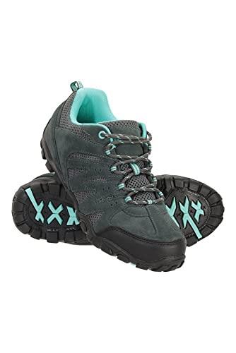 Mountain Warehouse Zapatillas de Senderismo para Mujer - Transpirables, con Malla Superior, Suela de Goma Duradera y Plantilla EVA - Ideales para Senderismo Azul petróleo Talla Zapatos Mujer 40 EU