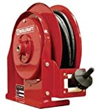 Hose Reel for Low Pressure Pavement Release Agent - Includes 1/4 in x 25 ft Hose, 250 psi, Spring Retractable