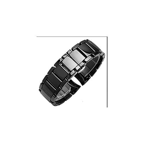 MAYALI 22 mm 24 mm Mezcla de cerámica Acero Adecuado para AR1451 AR1452 Mira la Banda Adecuada para Arkansas Relojes Strap Strap Marca Reloj de Banda Samsung S3 S4 Extremo Curvo