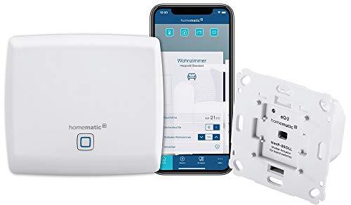 Homematic IP Access Point - Smart Home Gateway mit kostenloser App und Sprachsteuerung über Amazon Alexa + Rollladenaktor für Markenschalter, intelligente Steuerung von Rollläden und Markisen