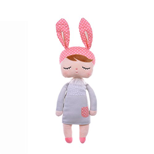 Lalang Baby Stofftier Spielzeug Stoffspielzeug Baumwolle Gefüllte Kaninchen Plüschtier (grau)