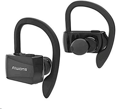 Auriculares Bluetooth 5.0, TWS Auriculares Inalambricos Bluetooth Impermeables IPX7 HiFi Cascos Deportivos In-Ear Estéreo Inalámbricos con Mic para iPhone y Android