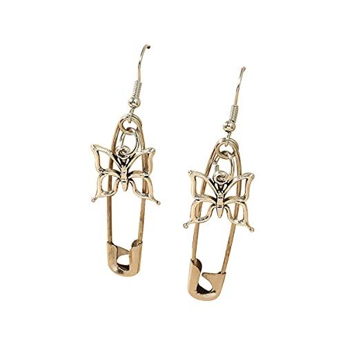 Pendientes de aro con pasador de mariposa de seguridad DUOYO, pendientes minimalistas, regalo de joyería personalizado para mujeres