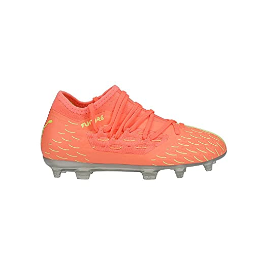 PUMA Kids Boys Future 5.3 Netfit Firm GroundArtificial Grass - Soccer Cleats Cleated,Firm Ground,Turf - Orange - Size 4.5 M