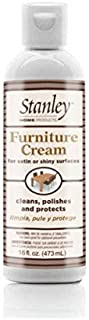 Stanley Home Products Furniture Cream - Professional Antique Wood & Leather Home Accent Cleaner & Polisher For Dust & Wax Free Sofa, Bedroom, Office & Nursery