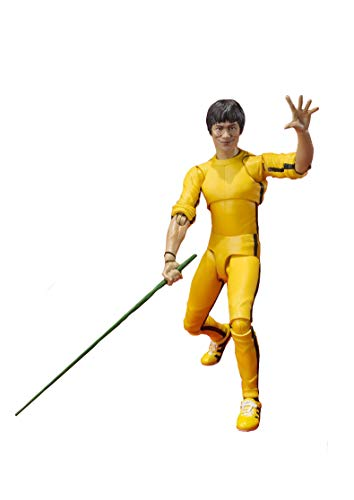 ZCCZ-AA Anime Death Game Bruce Lee Yellow Clothes Movable Model Statue Toy