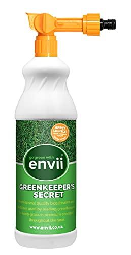 Envii Greenkeeper's Secret – Concime Liquido per Prato, migliora la Crescita e la Salute dell'erba (con Spruzzatore)