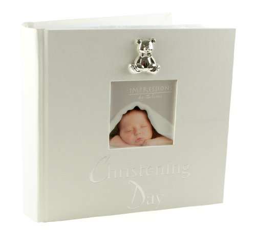 Álbum de fotos de bautizo, 15x 10cm, con figura de oso en 3D