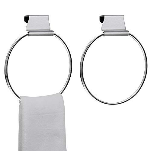 MZURBIR Handtuchring Handtuchhalter für Schrank Küche über Schrank Handtuchstange Rack
