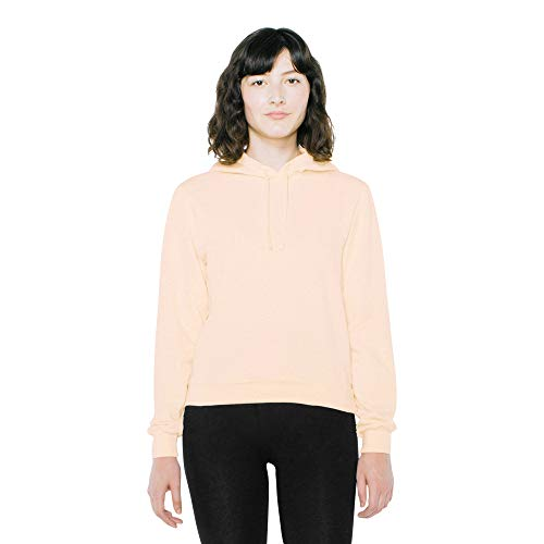 American Apparel Damen French Terry Mid-Length Long Sleeve Hoodie Kapuzenpulli, Faded Crème, Small