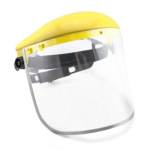 MáScara Protectora contra Salpicaduras Montada En La Cabeza ProteccióN Facial De Seguridad De Una Sola Corona con Casco De Trinquete para Profesionales Industriales, De Laboratorio Y Otros