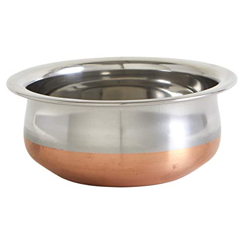 IMUSA USA 7' SS w/Copper SA-10103 South Asian 7' Stainless Steel Handi with Beautiful Bottom, 7'