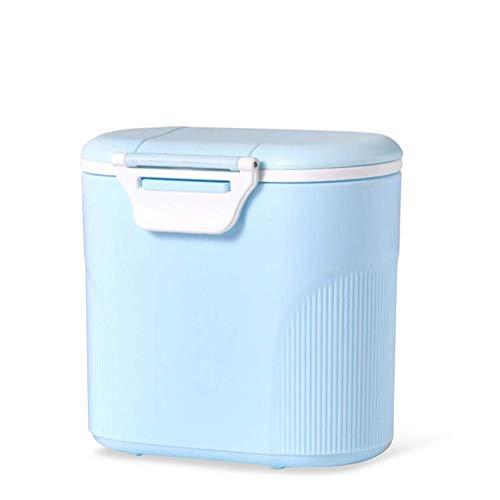 Sunshine smile milchpulver aufbewahrung,Milchpulver-Spender,Tragbarer Baby Milchpulver Behälter,milchpulver container mit Gleichmacher 600ML/280ML (Blau (large))