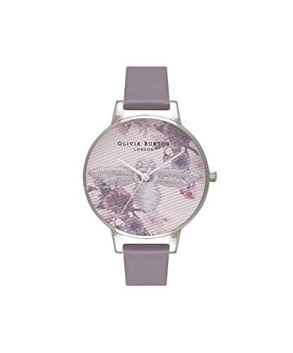 Olivia Burton Damen Analog Quarz Uhr mit Leder Armband OB16EM05
