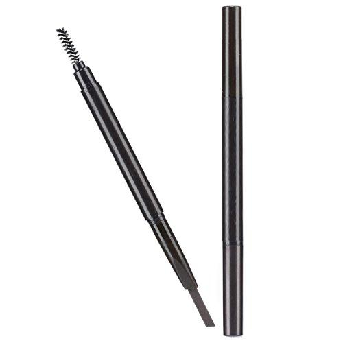 Trillycoler Automatique étanche Crayon de Maquillage Pivoté Sourcil Pen Eyeline + Brosse (5# Café Noir)