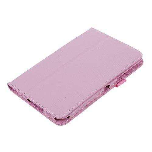 Gesh Funda de piel para Galaxy Tab 2 P3100 y P3110 de 7', color rosa