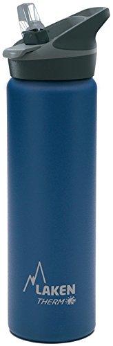 Laken Jannu Botella de Agua Térmica con Aislamiento de Vacío con Doble Pared de Acero Inoxidable 18/8. Hasta 24 Horas de Frío, Azul, 750 ml
