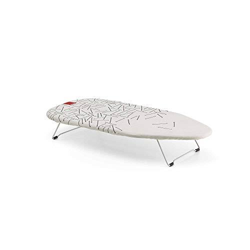 Rayen Tabla de Planchar de sobremesa | Mínimo Espacio Plegado | con Malla metálica | Válida para Colgar, Metal, Estampado, 73.5 X 31.5 cm