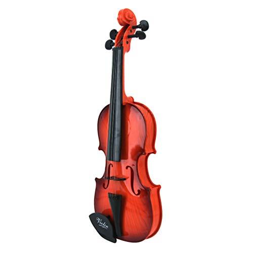 BESPORTBLE Juguete para Niños Cuerdas Ajustables para Violín Sonidos Musicales Instrumento de Música Realista Regalo para Niños Principiantes Que Aprenden Música Clásica (Color Aleatorio)