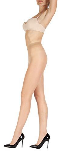 Giulia 12 DEN schützt bis zu 95% der direkten UV-Strahlen Damen Fein Strumpfhose Nylon Sommer durchsichtig Naturale XL