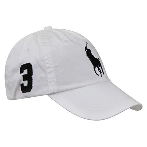 Ralph Lauren Polo Herren Baseballkappe Big Pony Weiß One Size