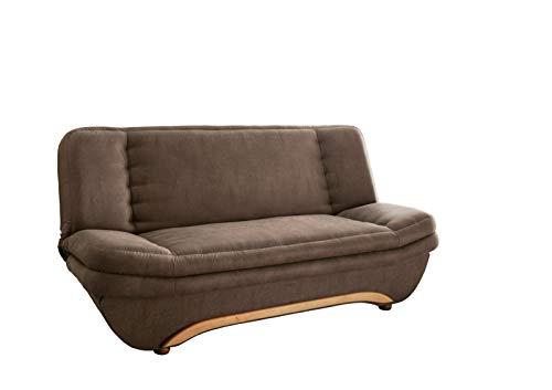 lifestyle4living Schlafsofa in Braun | Sofa mit Bettkasten | Funktionssofa im Vintage-Look mit Federkern-Polsterung