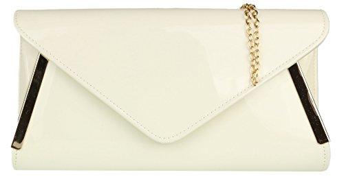 Girly Handbags - Cartera de mano de piel sintética para mujer Blanco blanco