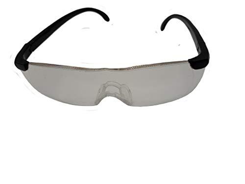 Brille mit Lupenfunktion vergrößert um ca 160% ideal z.B beim Nähen, Modellbau und Lesen von klein gedrucktem für Damen und Herren.