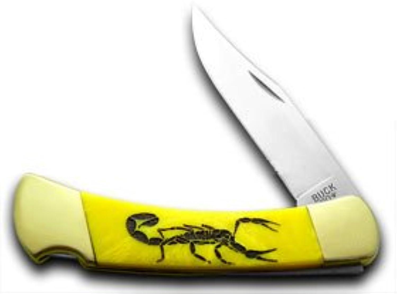 Buck 110 Custom Gelb Corelon Scorpion 1 400 400 400 Hunter Pocket Knives B016Q62XWY  Fein wild 82e3b3