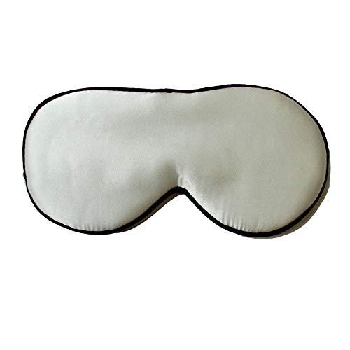 Slaapmasker met oogstrip oogmasker 100 procent natuurzijde zacht slapen oogschaduw voor op reis lichtgewicht met verstelbare riem comfortabel ademend wit