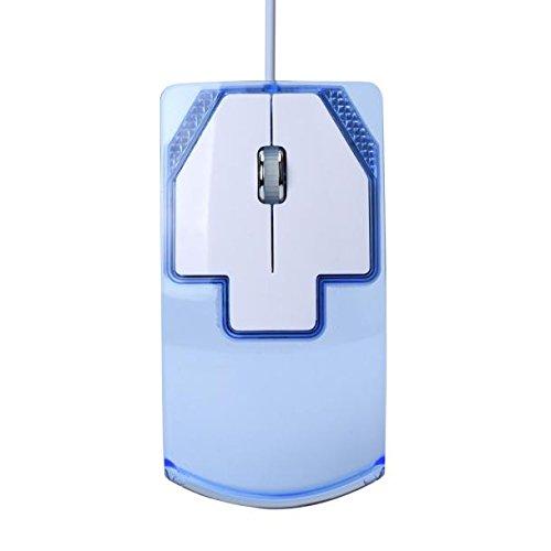 SamMoSon Mouse 1600  DPI Ottico USB GUIDATO Cablata Gioco  Topo Topi per PC Il Computer Portatile Computer (Blu)