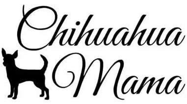 CZJMCT-DQ Chihuahua mamá vinilo Personality-Tierkaricatur-Auto-Sticker Decal15 cm x 7,8 cm 2pcs, blanco 15 cm x 7,8 cm CZJMCT-DQ (color: negro, tamaño: 15 cm x 7,8 cm)
