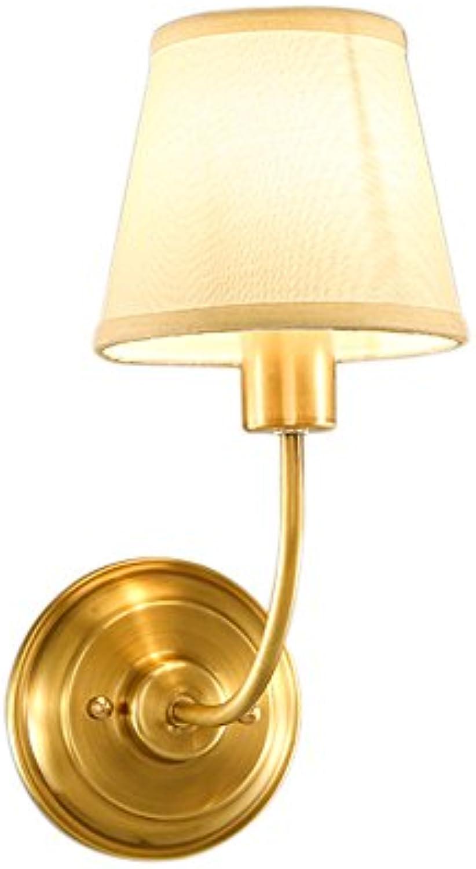BEGO Amerikanischen Stil lndlichen Full Kupfer Wand Lampe europischen Stil Wohnzimmer Restaurant Gang Korridor Lichter Treppe Schlafzimmer Nachttischlampe Einfache Wandleuchte A++