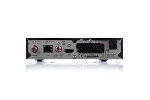 Xoro HRS 2610 Digitaler Satellitenreceiver schwarz & Goobay 50738 Sat Anschlusskabel, Antennenkabel, Koaxialkabel, F-Stecker auf F-Stecker,2-Fach geschirmt, 2,5m, 80 dB, weiß