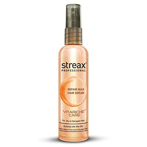 Streax Professional Vitariche Care Repair Max Hair Serum For Men & Women | Helps Repair & Rejuvenate Dry & Damaged Hair | Provides Softer, Nourished & Healthier Hair | For Dry To Damaged Hair, 100 ml