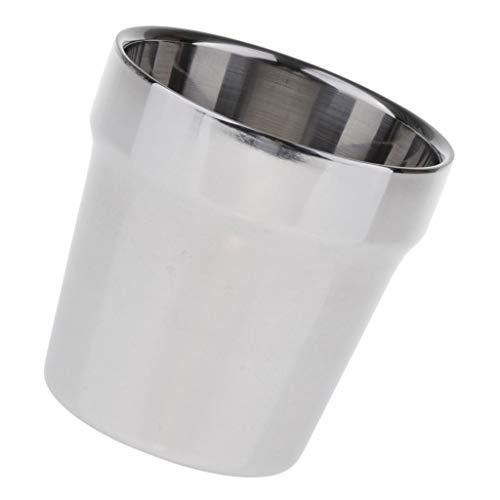 FLAMEER Taza de Viaje de Metal Taza de Café Taza de Acero Inoxidable Taza de Cerveza Regalo para Amigo - Pulido, tal como se describe