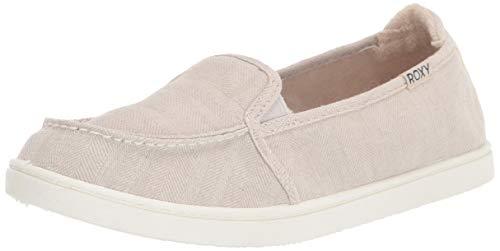 Roxy Women's Minnow Slip On Sneaker, Oatmeal, 8