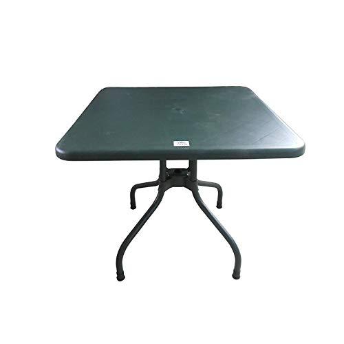 Fimel Table d'extérieur modèle rabattable de Scab Design. Couleur : vert forêt. Dimensions : L 80 x P 80 x H 75 cm. Plateau rabattable.