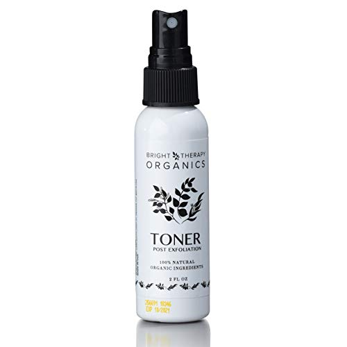 Bright Therapy Organics Rose Water & Witch Hazel Toner 100% Natural Organic Ingredients w/Lemon, Eucalyptus, Clears pores Cleans Skin, Prevents breakouts Alcohol Free