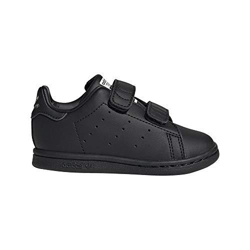 adidas Stan Smith CF I, Chaussure de Piste d'athltisme Garçon Unisex Kinder, Core Black Core Black FTWR White, 24 EU