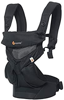 ERGObaby Carrier 360 All Carry Positions Baby Carrier with Cool Air Mesh, Onyx Black