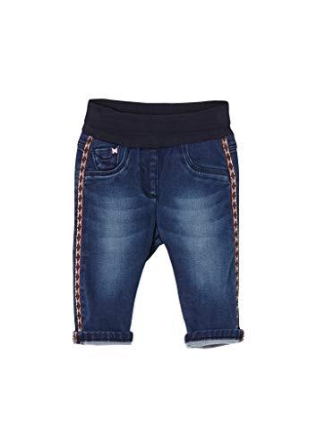 s.Oliver Unisex - Baby Elastische Jeans mit Tape-Detail blue 62.REG