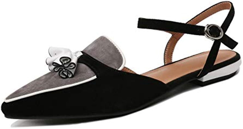 QYYDGGX High Heels Concise Concise Concise Damen Pumps Square Low Heels Leder Schnalle Sandalen Prom Party Working Vintage Sandalen Basic Schuhe Frau fea
