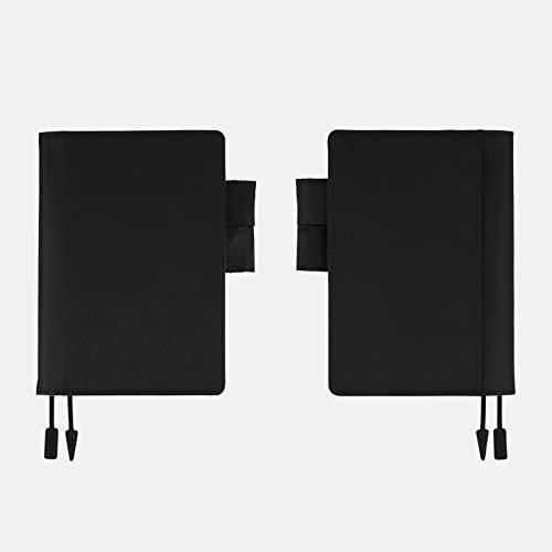 ほぼ日手帳オリジナル(A6サイズ)手帳カバー/カラーズ/ブラック×スカイブルーTTE1901N001CO