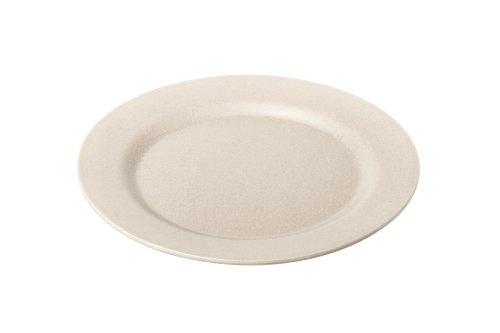 Crème/ivoire en bambou 20 cm rond assiettes (Lot de 4)