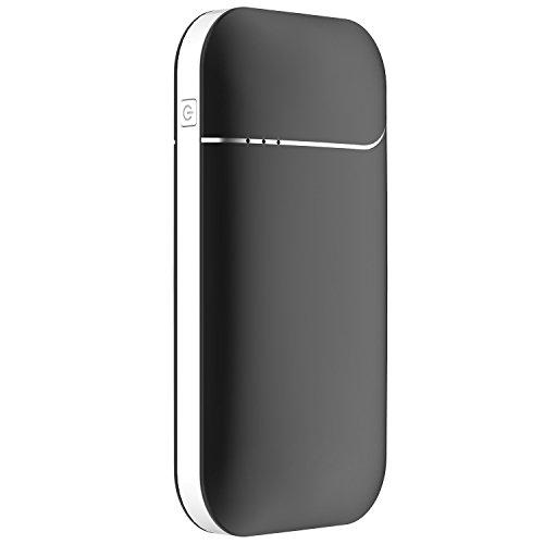 OKCS Wiederaufladbarer Handwärmer - 7800 mAH und 2A elektronischer Taschenwärmer Powerbank externer Akku USB Portable kompatibel mit, Galaxy etc. - Night Black