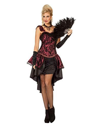 Horror-Shop Burlesque Tänzerin Damen Kostümkleid Bordeaux für Fasching 44