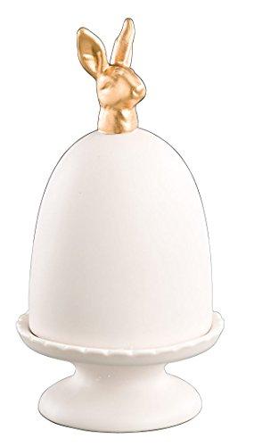 Keramikteller - Hasenkopf - mit Haube Oster Glocke Haube Etagere
